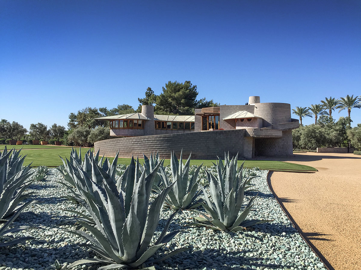The David and Gladys Wright House tours during Modern Phoenix Week 2015 in Phoenix Arizona