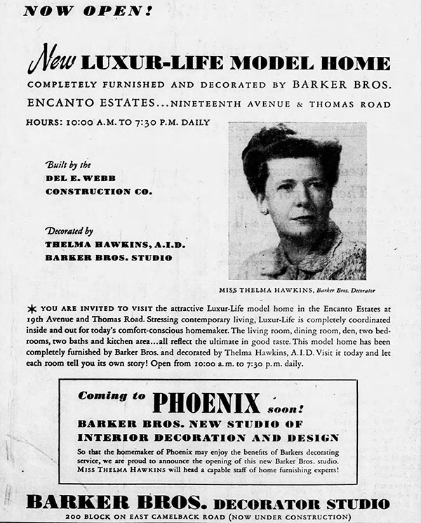 Vintage ad for Encanto Estates in Phoenix Arizona