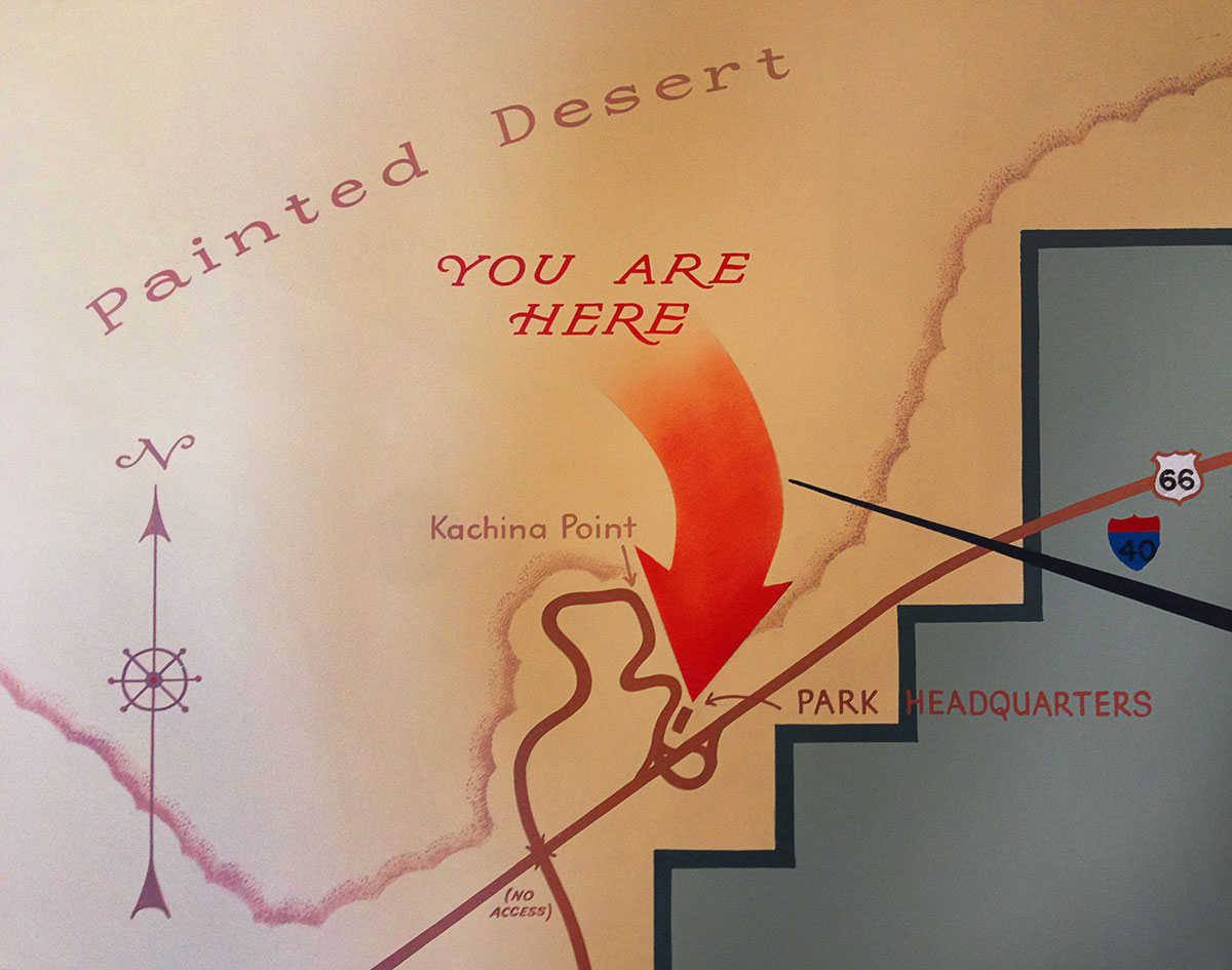 Richard Neutra Designed the Painted Desert Visitor Center ... on death valley map in us, colorado map in us, las vegas map in us, grand canyon map in us, new mexico map in us, arizona map in us, glacier map in us, yellowstone map in us,
