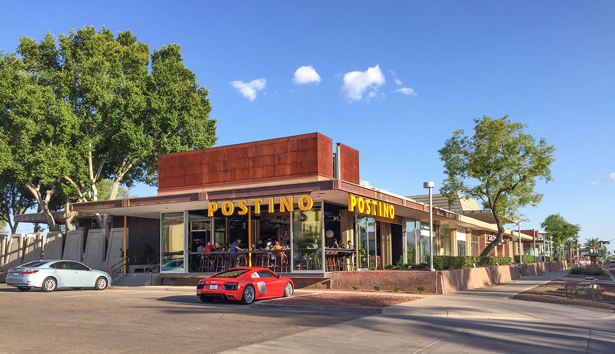 Postino Highland in Scottsdale by Weaver and Drover, Formerly a Valley National Bank